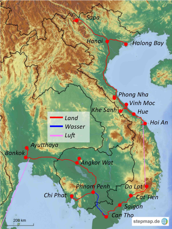Vietnamkrieg Karte.Pundd Vietnam